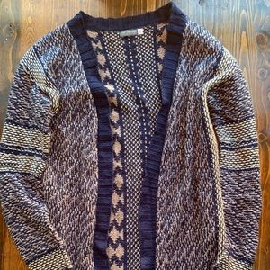 EARTHBOUND long cardigan sweater sz small